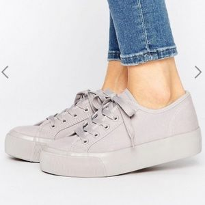 ASOS New Look Canvas Double Sole Sneaker